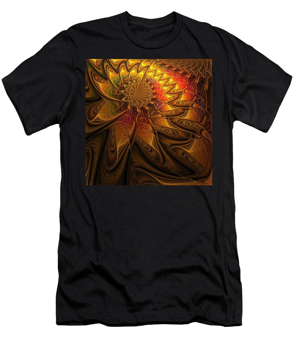 Digital Art Men's T-Shirt (Athletic Fit) featuring the digital art The Midas Touch by Amanda Moore