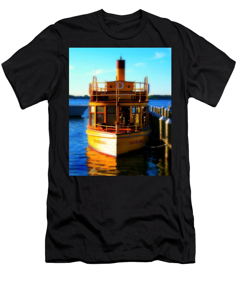 Boat Men's T-Shirt (Athletic Fit) featuring the photograph The Minnehaha by Perry Webster