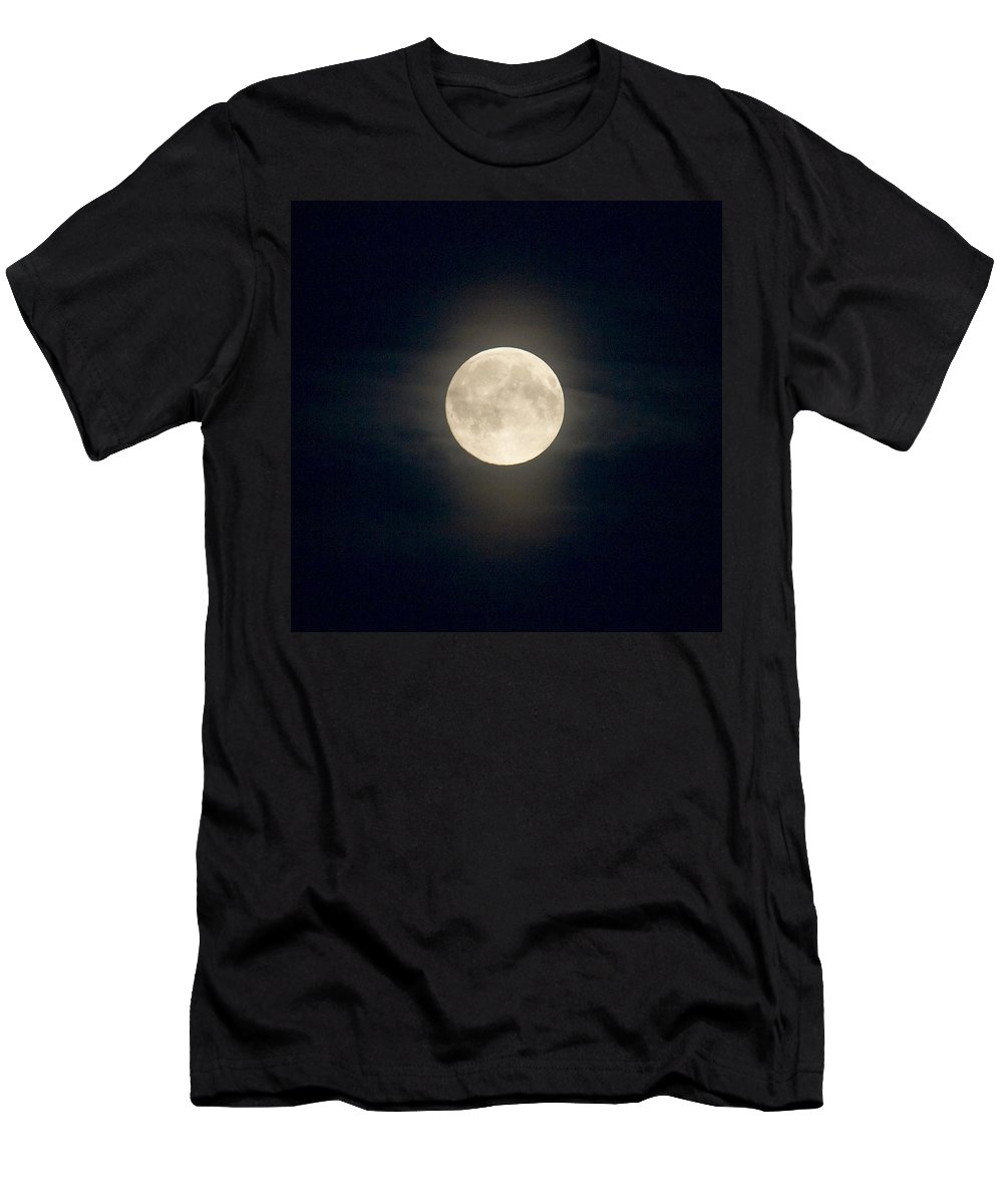 Lehtokukka Men's T-Shirt (Athletic Fit) featuring the photograph The Moon 2 by Jouko Lehto