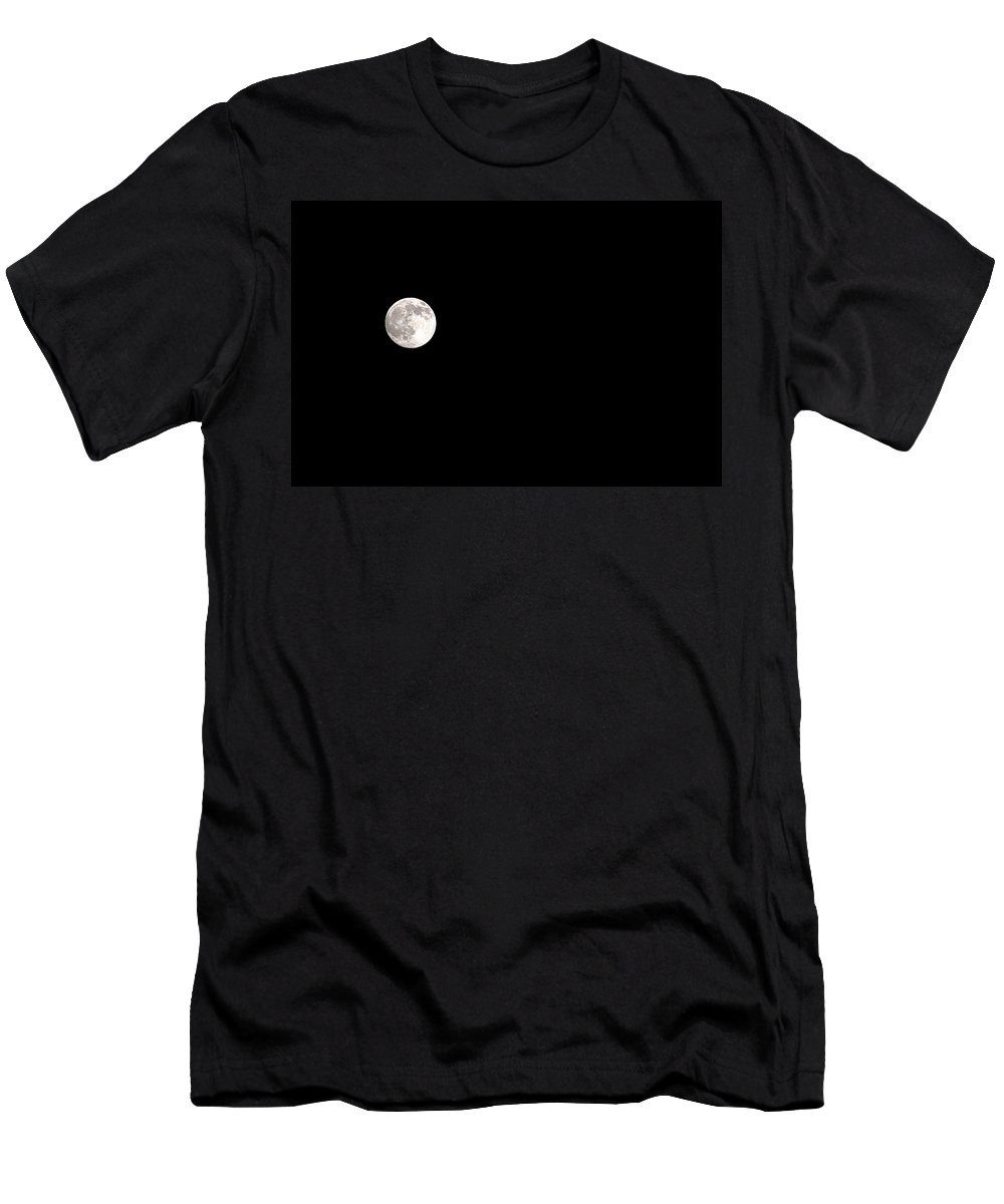 Clay Men's T-Shirt (Athletic Fit) featuring the photograph The Moon by Clayton Bruster