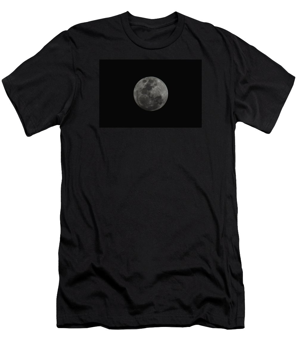The Moon Men's T-Shirt (Athletic Fit) featuring the photograph The Moon - La Luna 10 by Totto Ponce