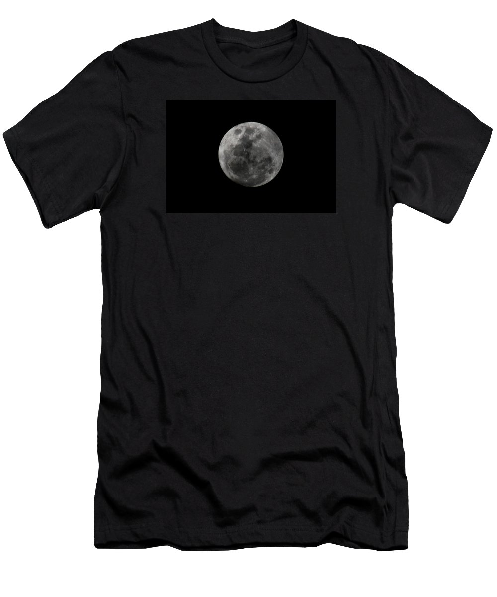 The Moon Men's T-Shirt (Athletic Fit) featuring the photograph The Moon - La Luna 7 by Totto Ponce