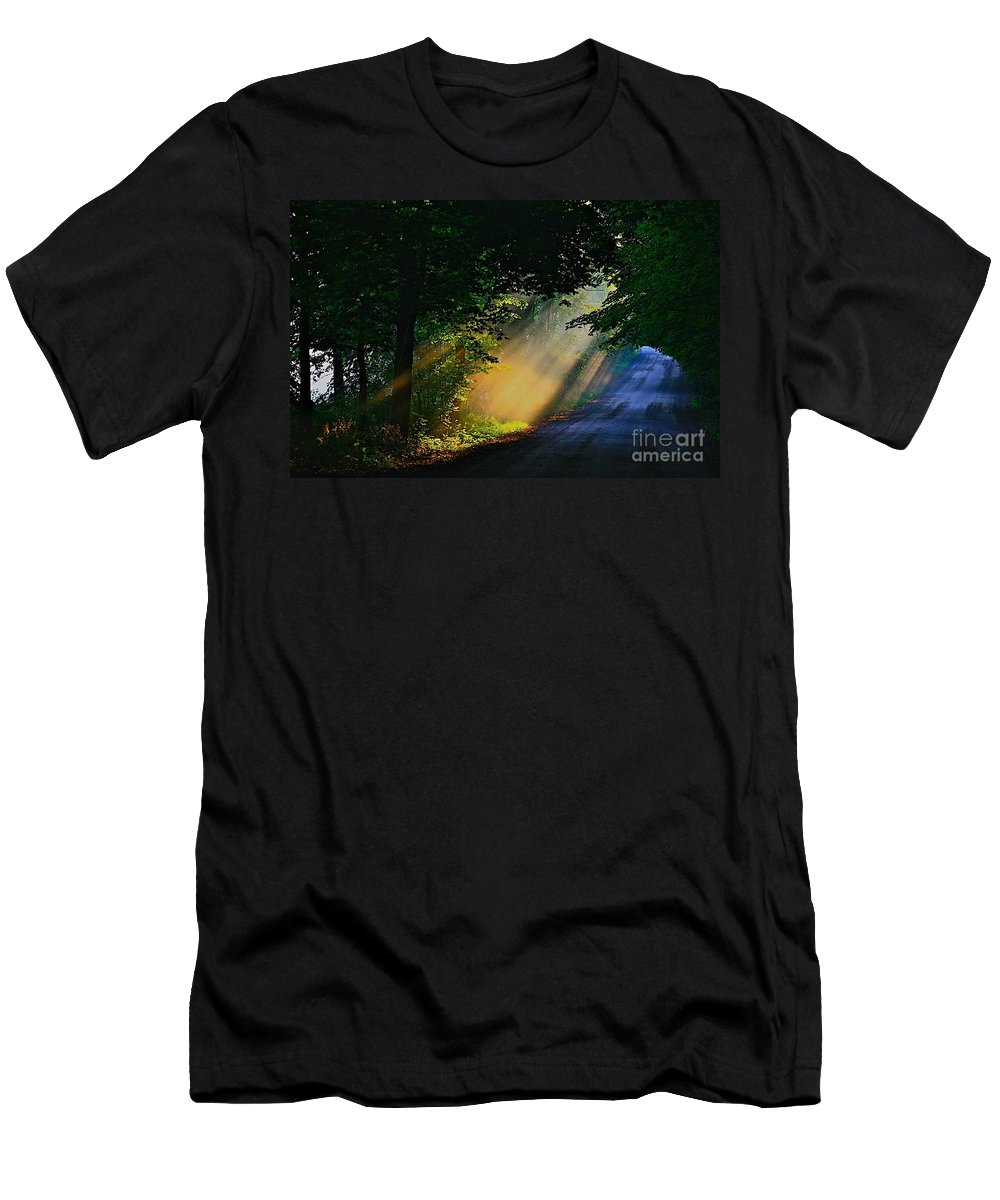Sun Shine Nature Men's T-Shirt (Athletic Fit) featuring the photograph The Mourning Sun by Robert Pearson