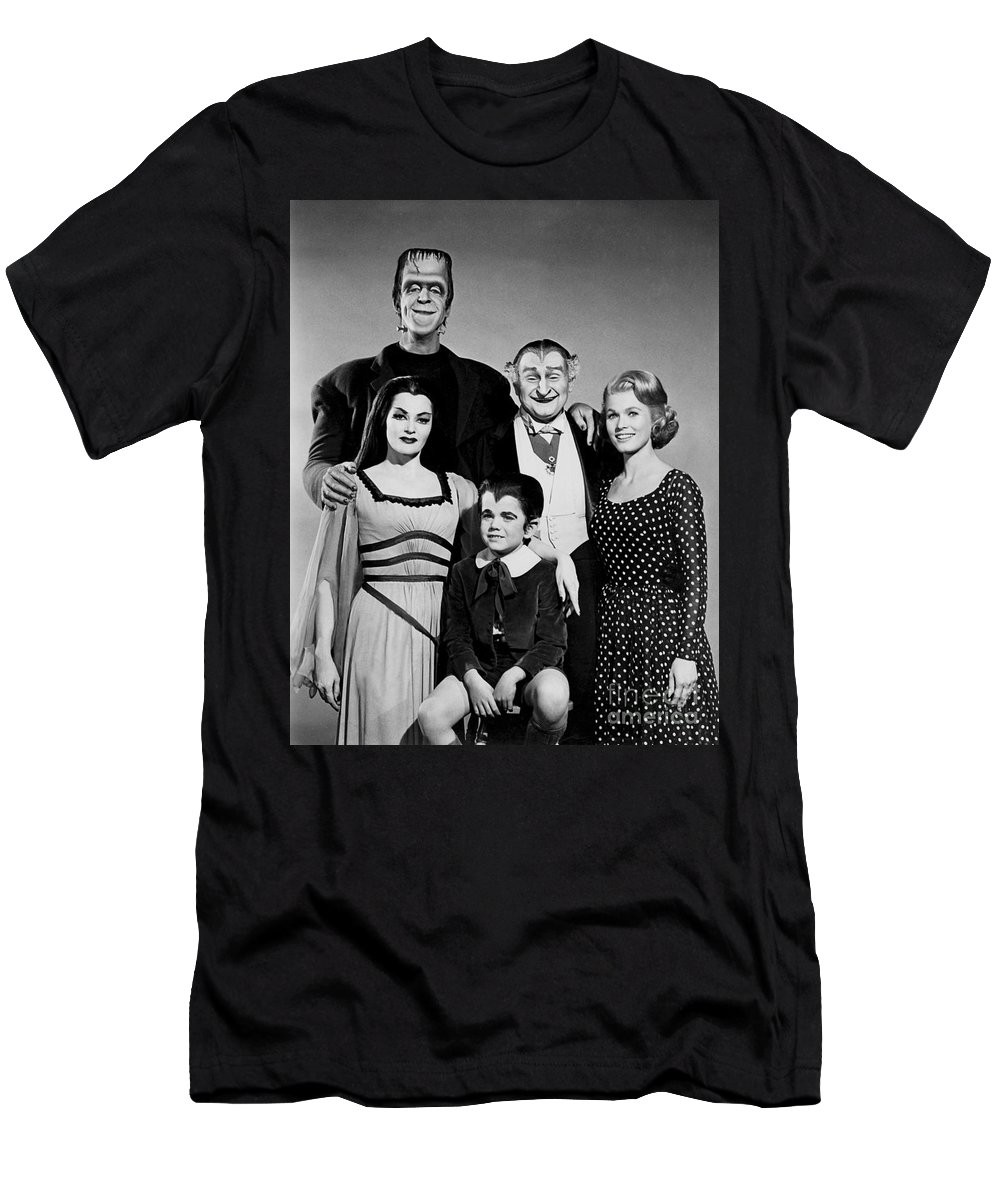 The Munster Family Portrait Men's T-Shirt (Athletic Fit) featuring the photograph The Munster Family Portrait by Pd