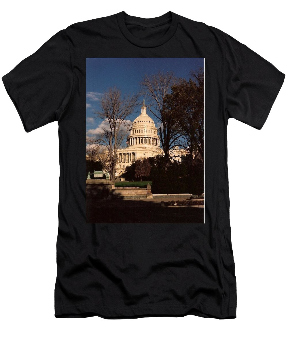 Capitol Building Men's T-Shirt (Athletic Fit) featuring the photograph The Nation's Capitol by Lauri Novak