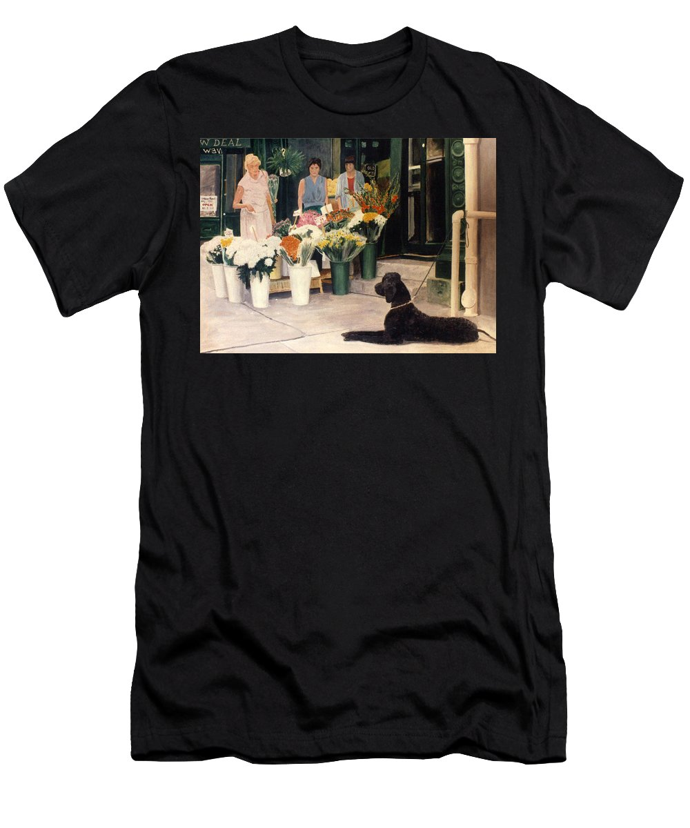 Mums Men's T-Shirt (Athletic Fit) featuring the painting The New Deal by Steve Karol