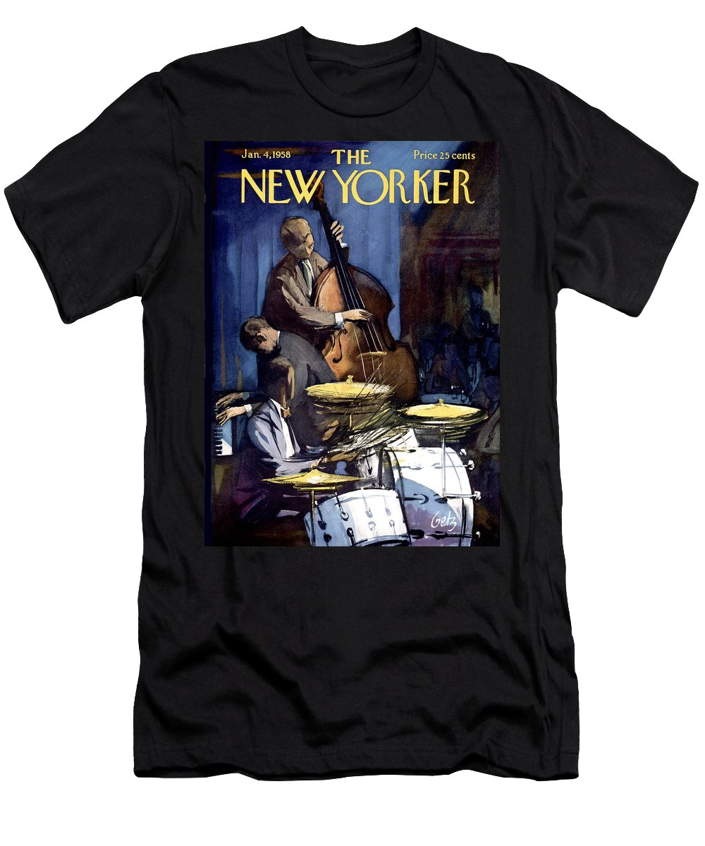 Concert T-Shirt featuring the painting New Yorker January 4th, 1958 by Arthur Getz