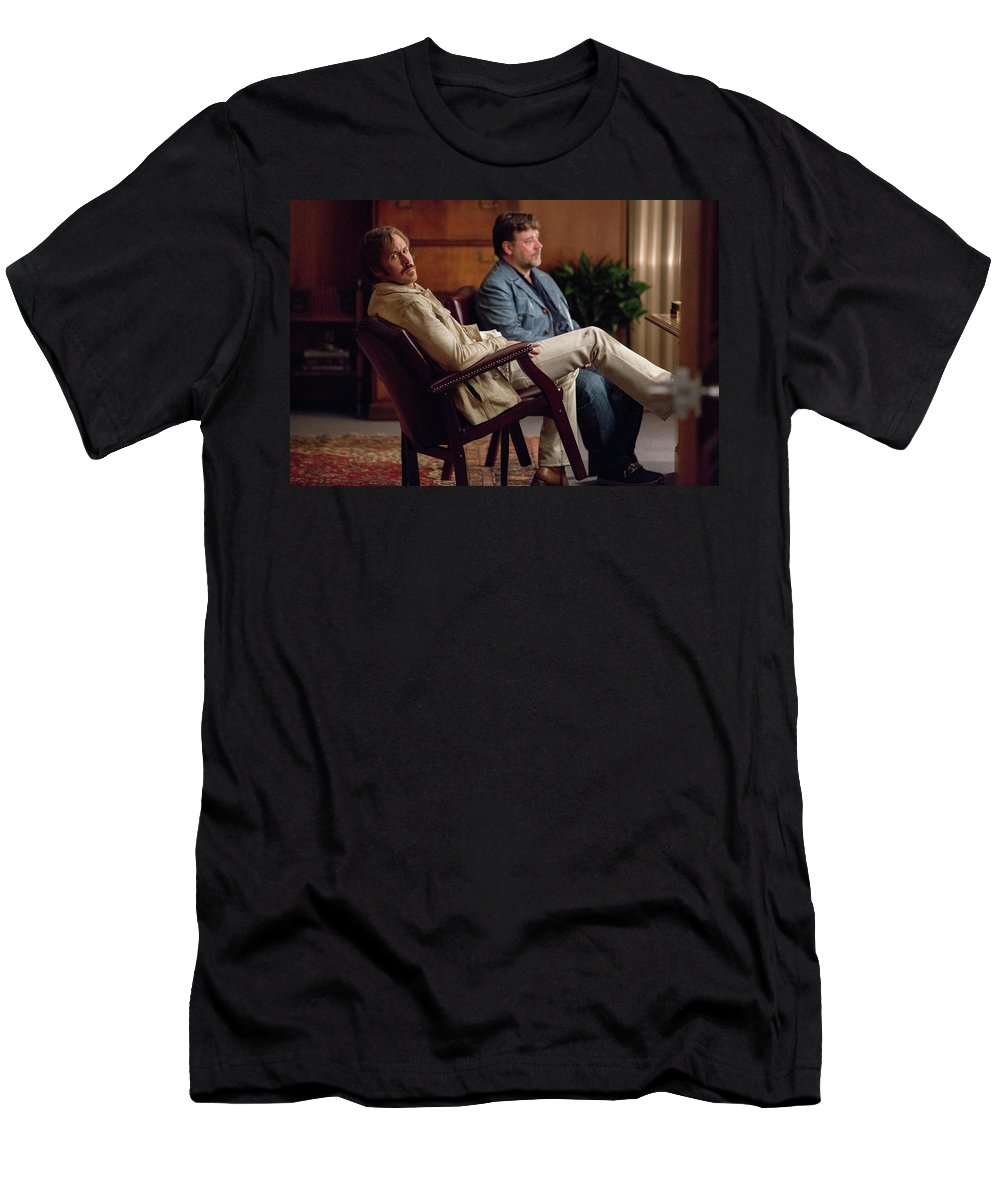 The Nice Guys Men's T-Shirt (Athletic Fit) featuring the digital art The Nice Guys by Dorothy Binder