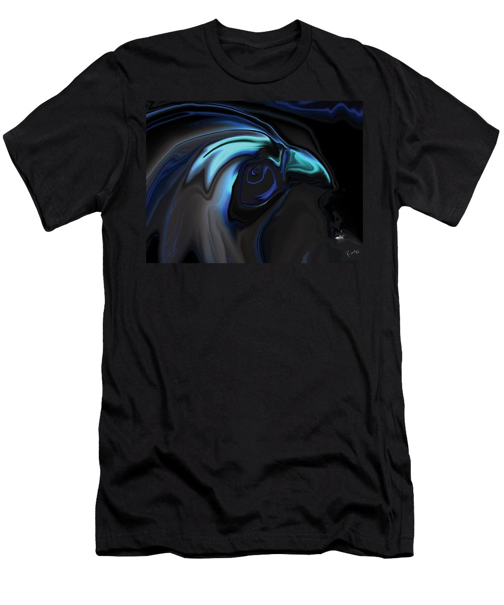 Birds Of Prey Men's T-Shirt (Athletic Fit) featuring the digital art The Nighthawk by Rabi Khan