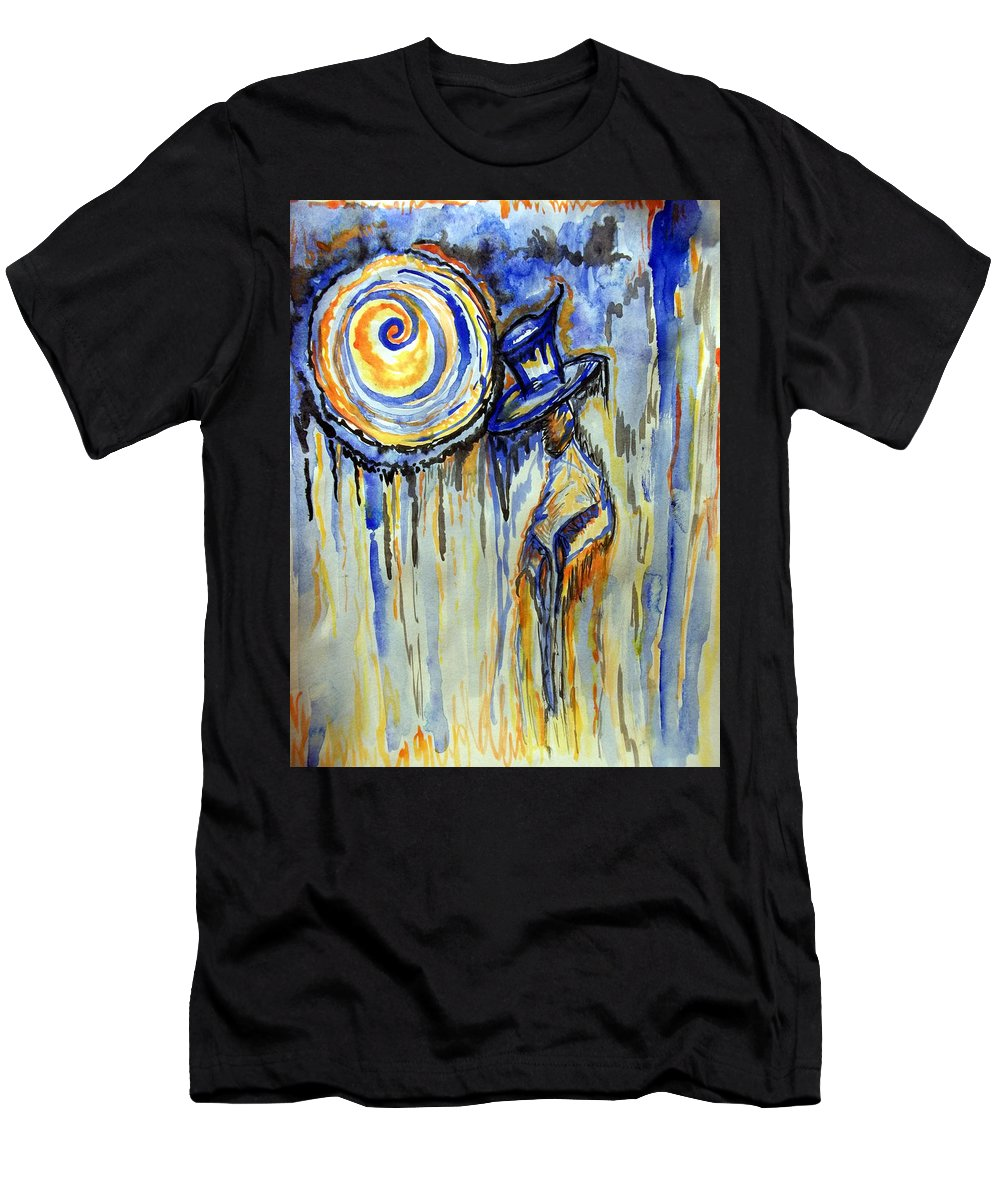 Moon Men's T-Shirt (Athletic Fit) featuring the painting The Notekeeper by Catherine McCoy