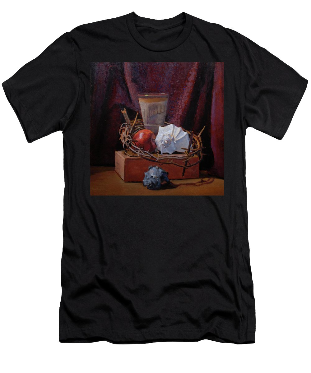Still Life Men's T-Shirt (Athletic Fit) featuring the painting The Old And The New by Alan Cayton