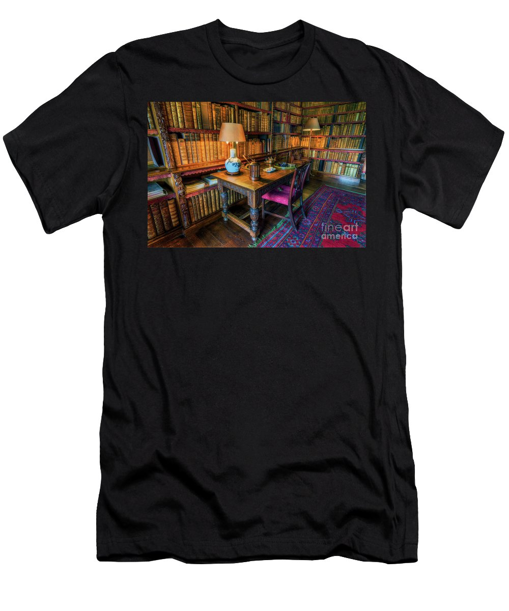 Library Men's T-Shirt (Athletic Fit) featuring the photograph The Old Library by Ian Mitchell