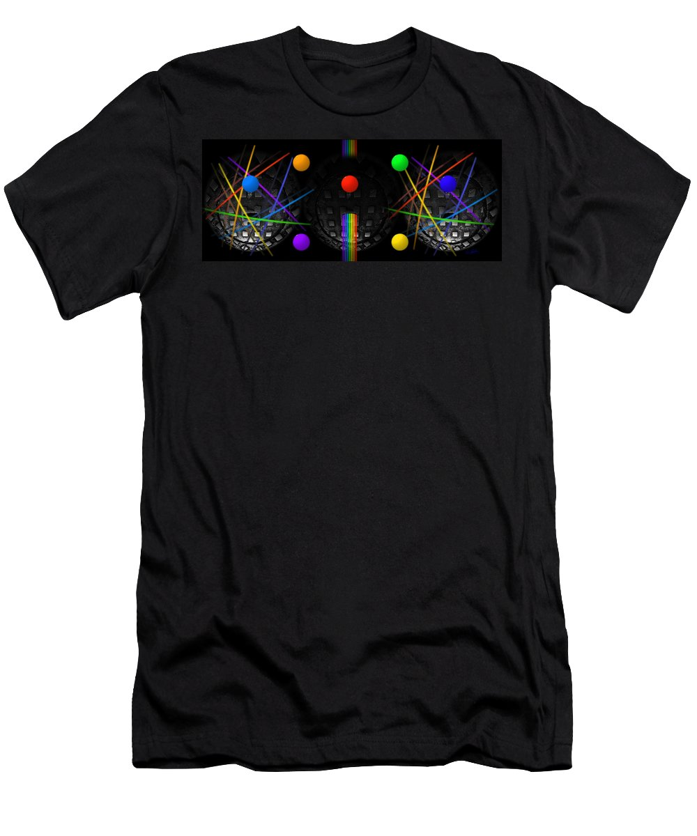 Manhole Men's T-Shirt (Athletic Fit) featuring the painting The Origin Of Species by Charles Stuart