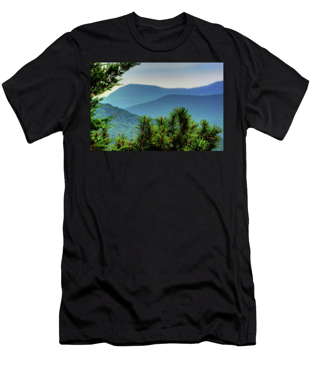 Ozarks Men's T-Shirt (Athletic Fit) featuring the photograph The Ozarks by Michael Ciskowski