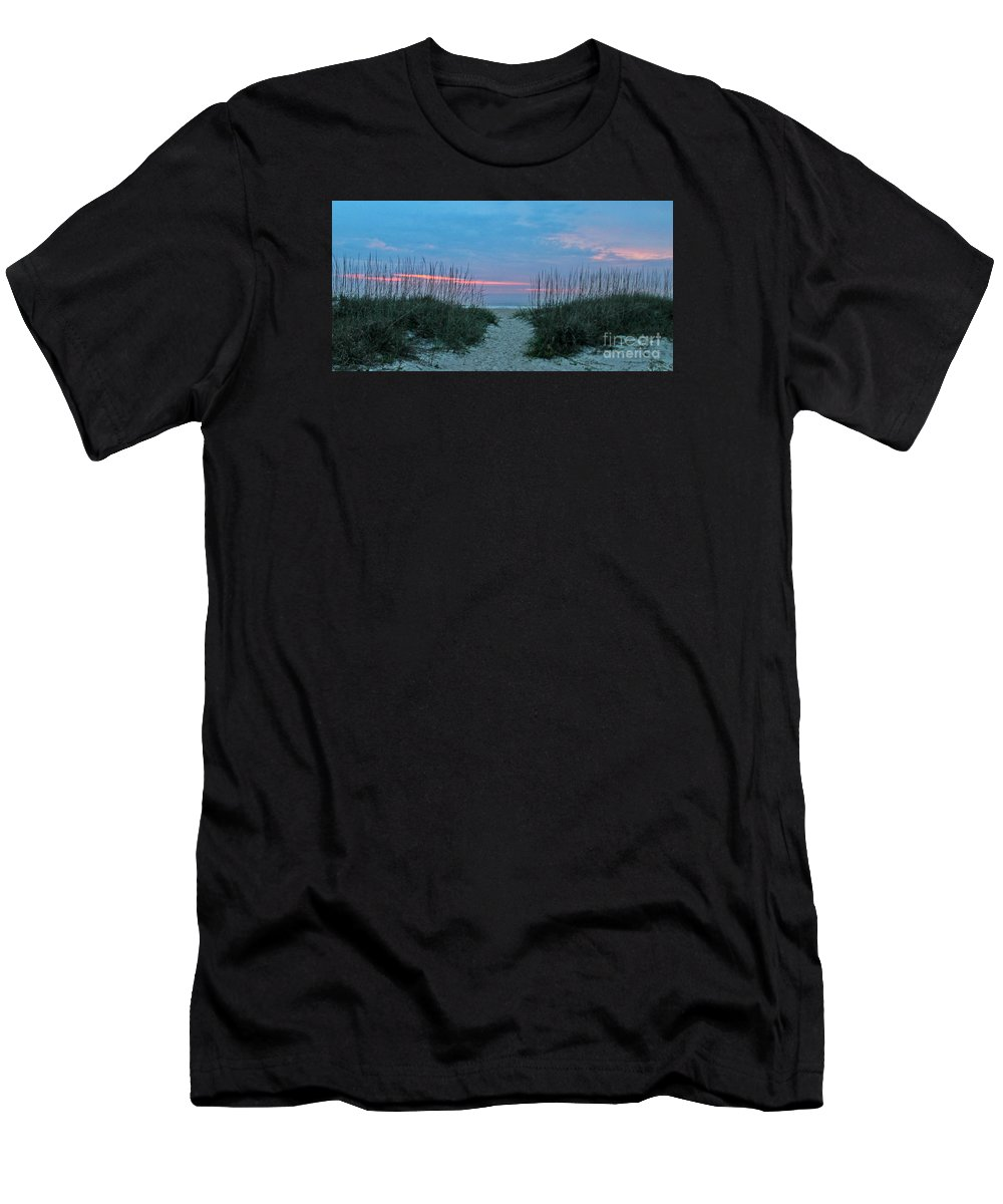 St. Augustine Men's T-Shirt (Athletic Fit) featuring the photograph The Path by LeeAnn Kendall
