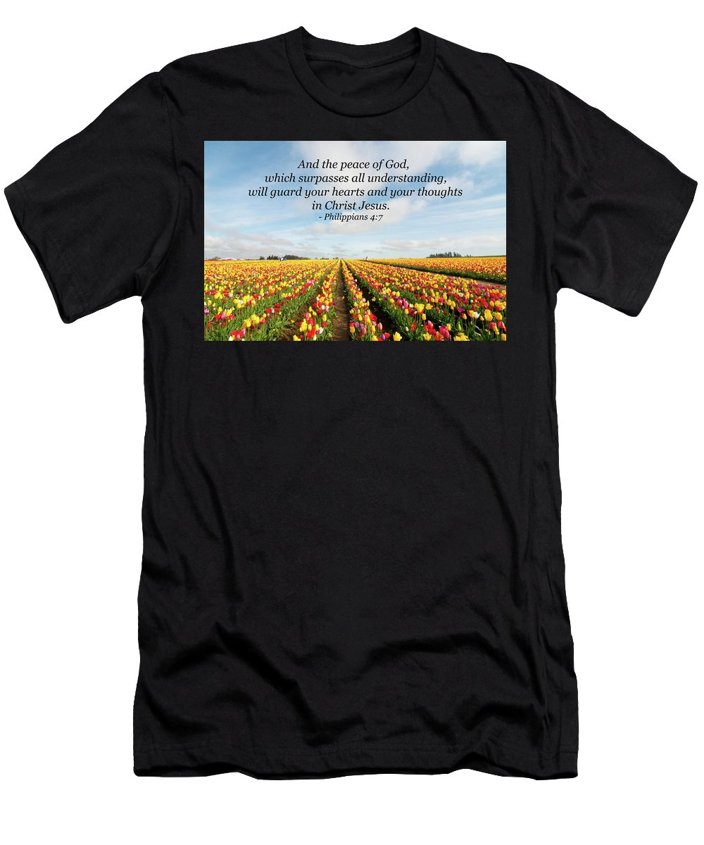 Landscape Men's T-Shirt (Athletic Fit) featuring the photograph The Peace Of God by Kim Warden