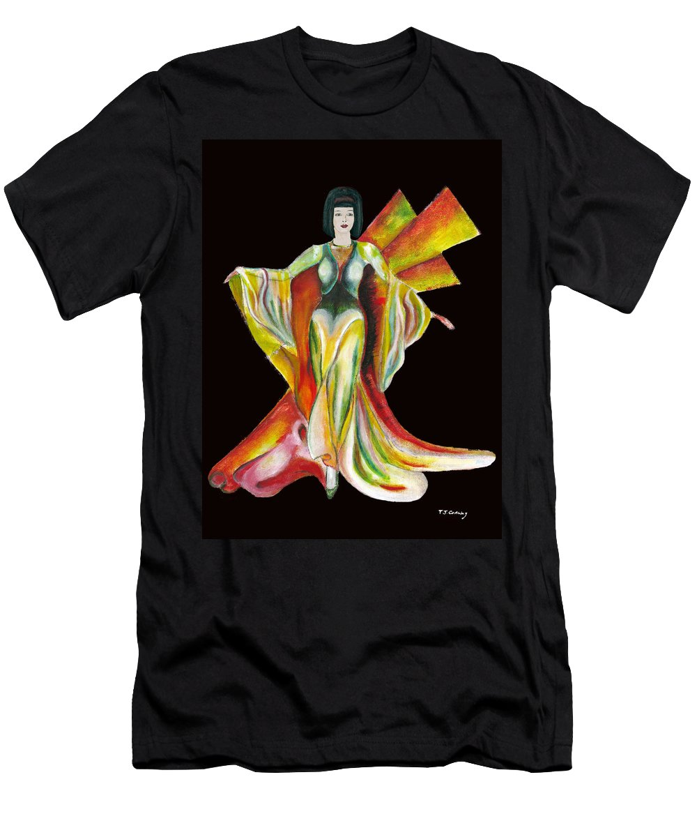 Dresses Men's T-Shirt (Athletic Fit) featuring the painting The Phoenix 2 by Tom Conway