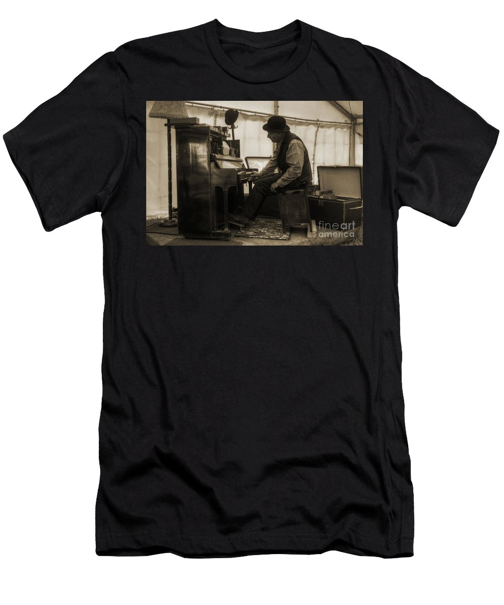 Piano Men's T-Shirt (Athletic Fit) featuring the photograph The Pianist by Rob Hawkins