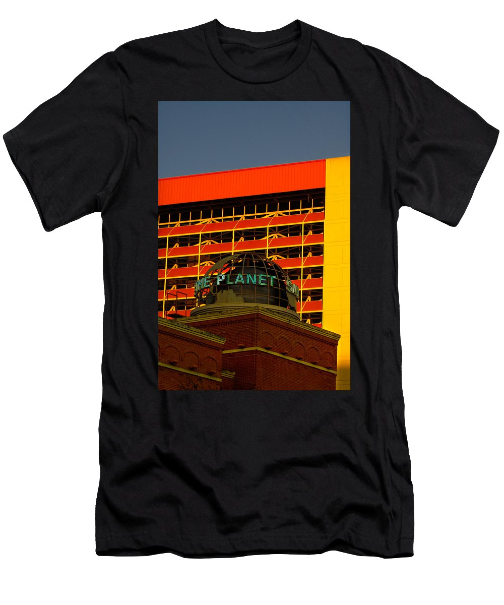 Urban Men's T-Shirt (Athletic Fit) featuring the photograph The Planet San Antonio by Jill Reger