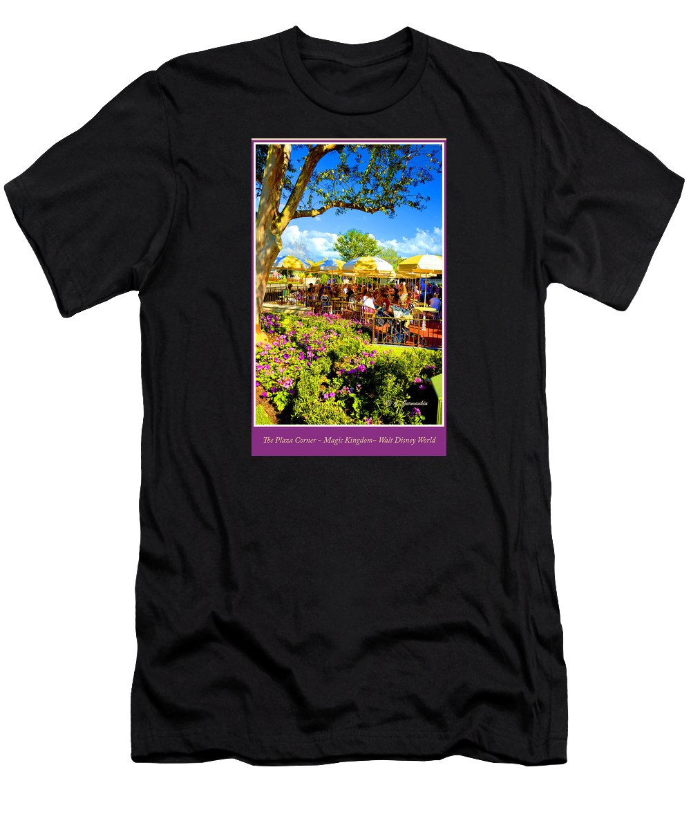 Color Men's T-Shirt (Athletic Fit) featuring the photograph The Plaza Magic Kingdom Walt Disney World by A Gurmankin