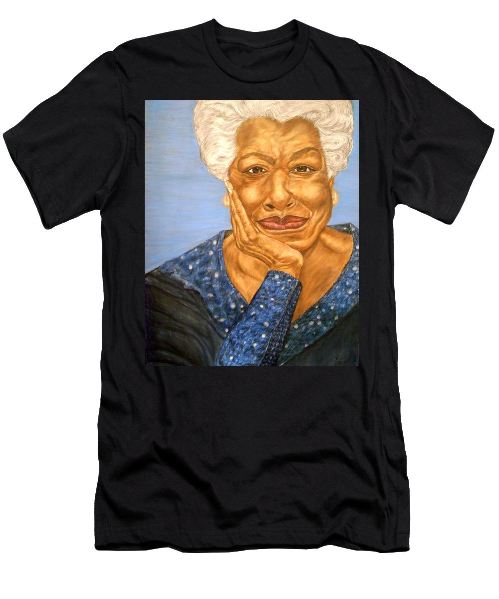 Portrait Men's T-Shirt (Athletic Fit) featuring the painting The Poet by Arron Kirkwood