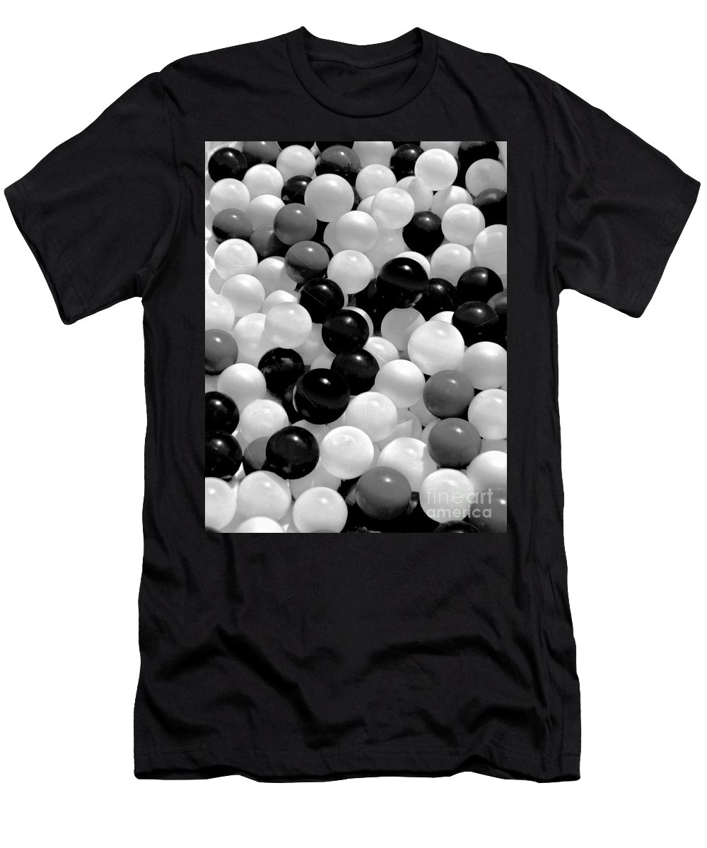 Balls Men's T-Shirt (Athletic Fit) featuring the photograph Power Balls by Carol F Austin