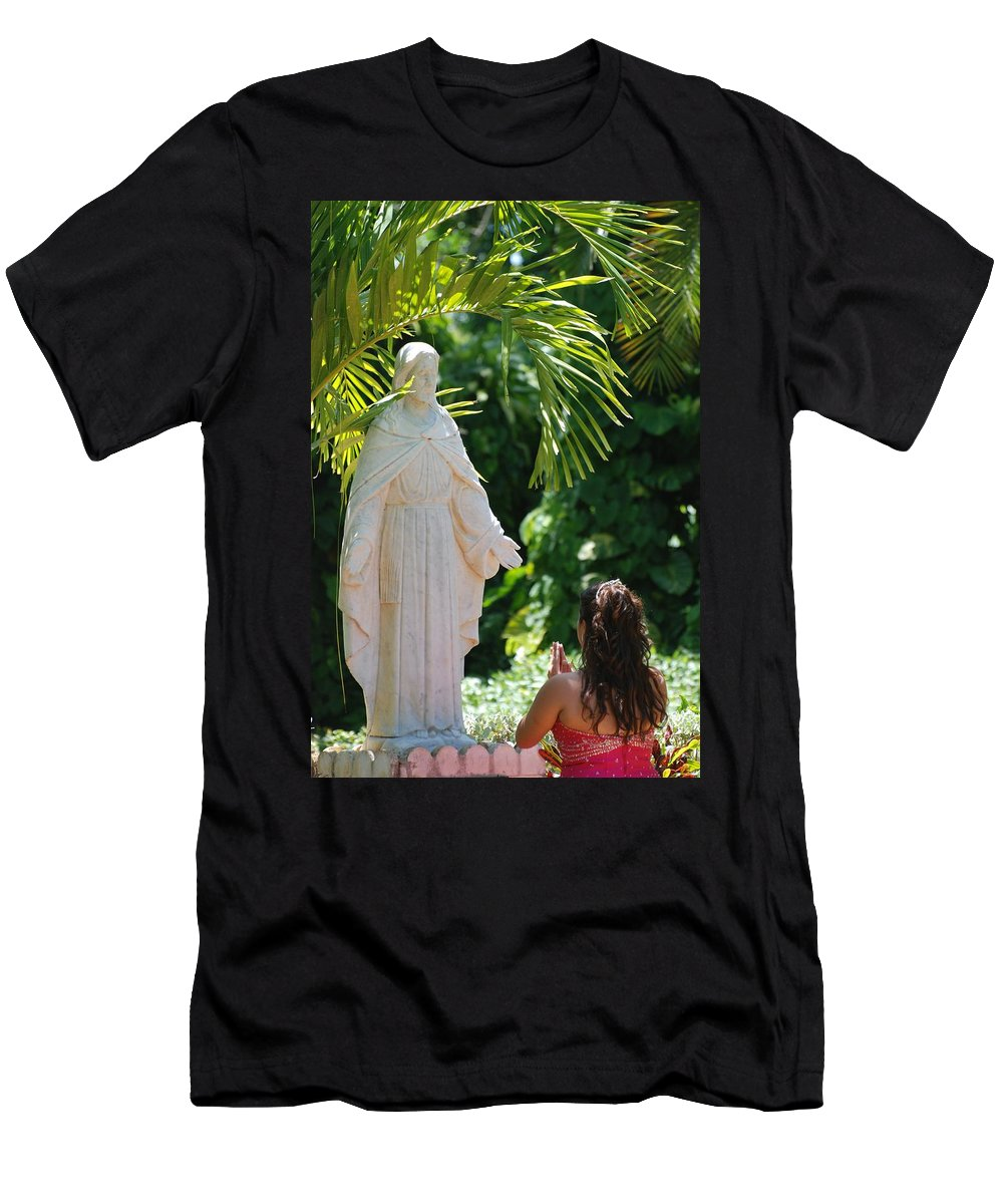 Portrait Men's T-Shirt (Athletic Fit) featuring the photograph The Praying Princess by Rob Hans