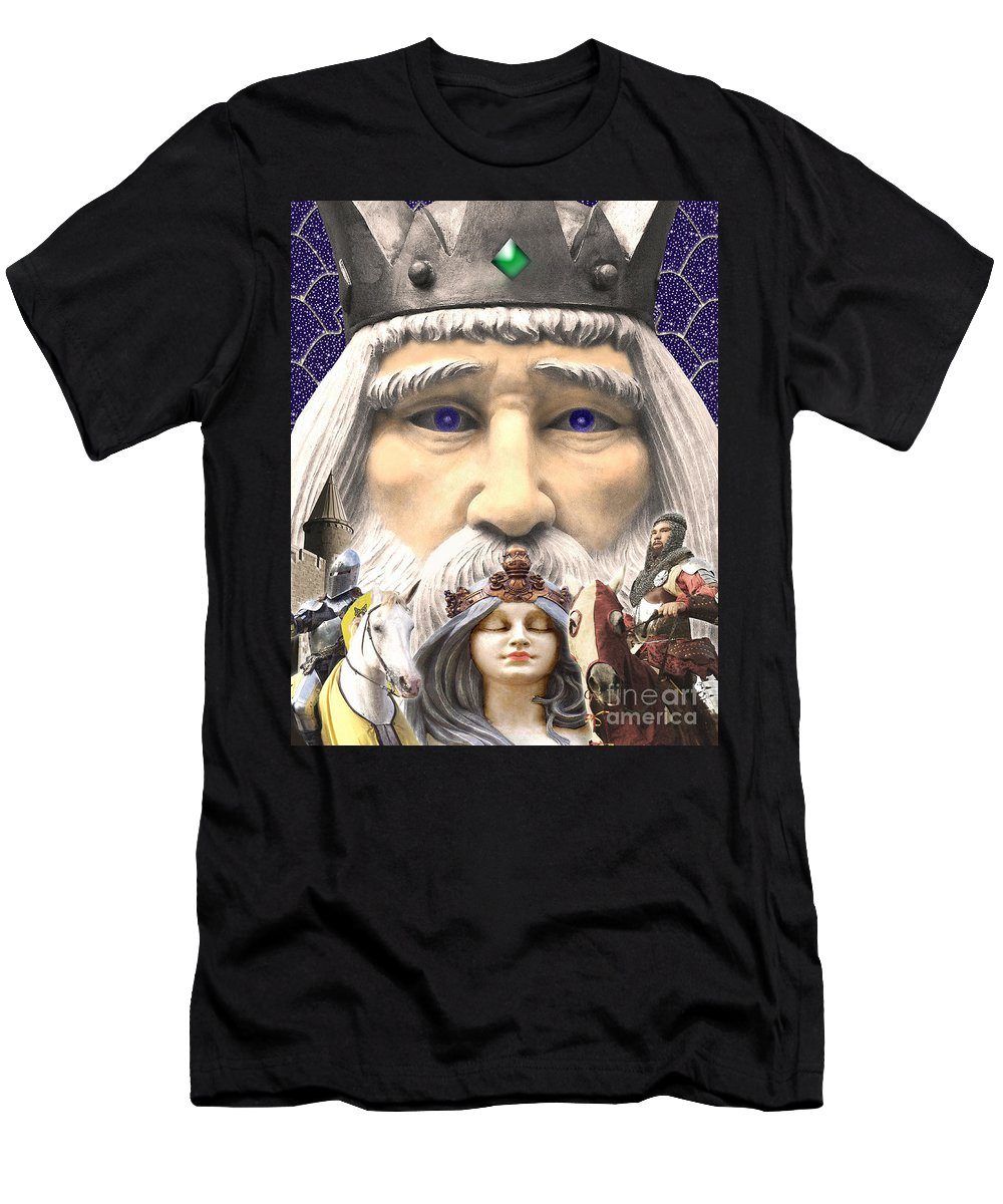 Medieval Men's T-Shirt (Athletic Fit) featuring the digital art The Princess Dream by Keith Dillon