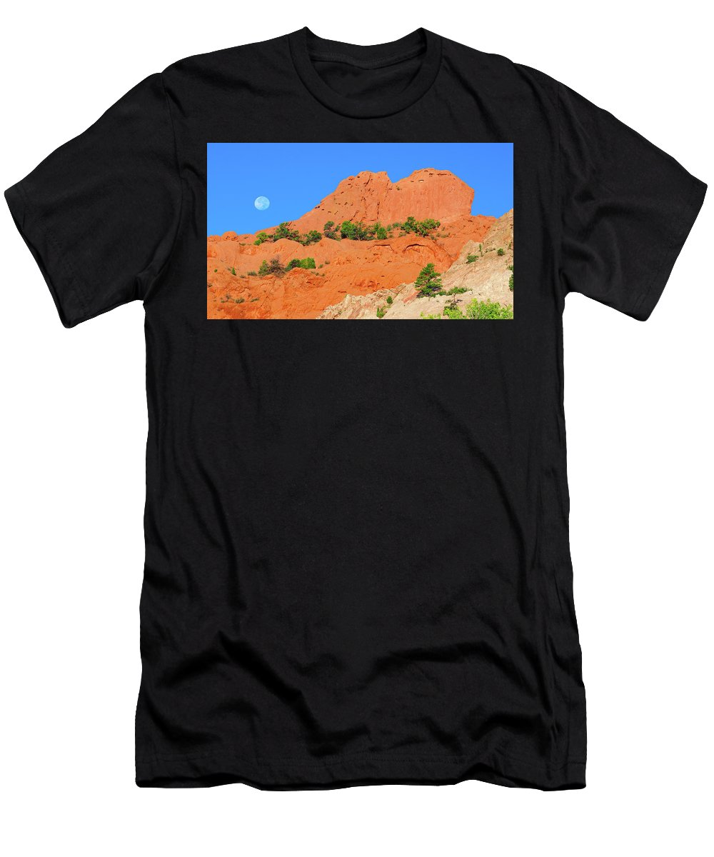 The Sleeping Indian Rock Formation Men's T-Shirt (Athletic Fit) featuring the photograph The Profile Of An Aborigine Celebrity by Bijan Pirnia