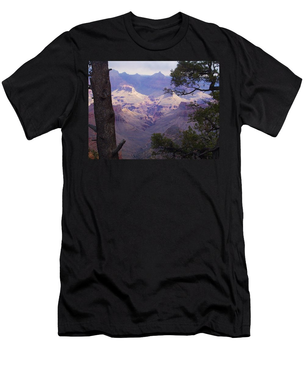 Grand Canyon Men's T-Shirt (Athletic Fit) featuring the photograph The Purple Grand by Marna Edwards Flavell