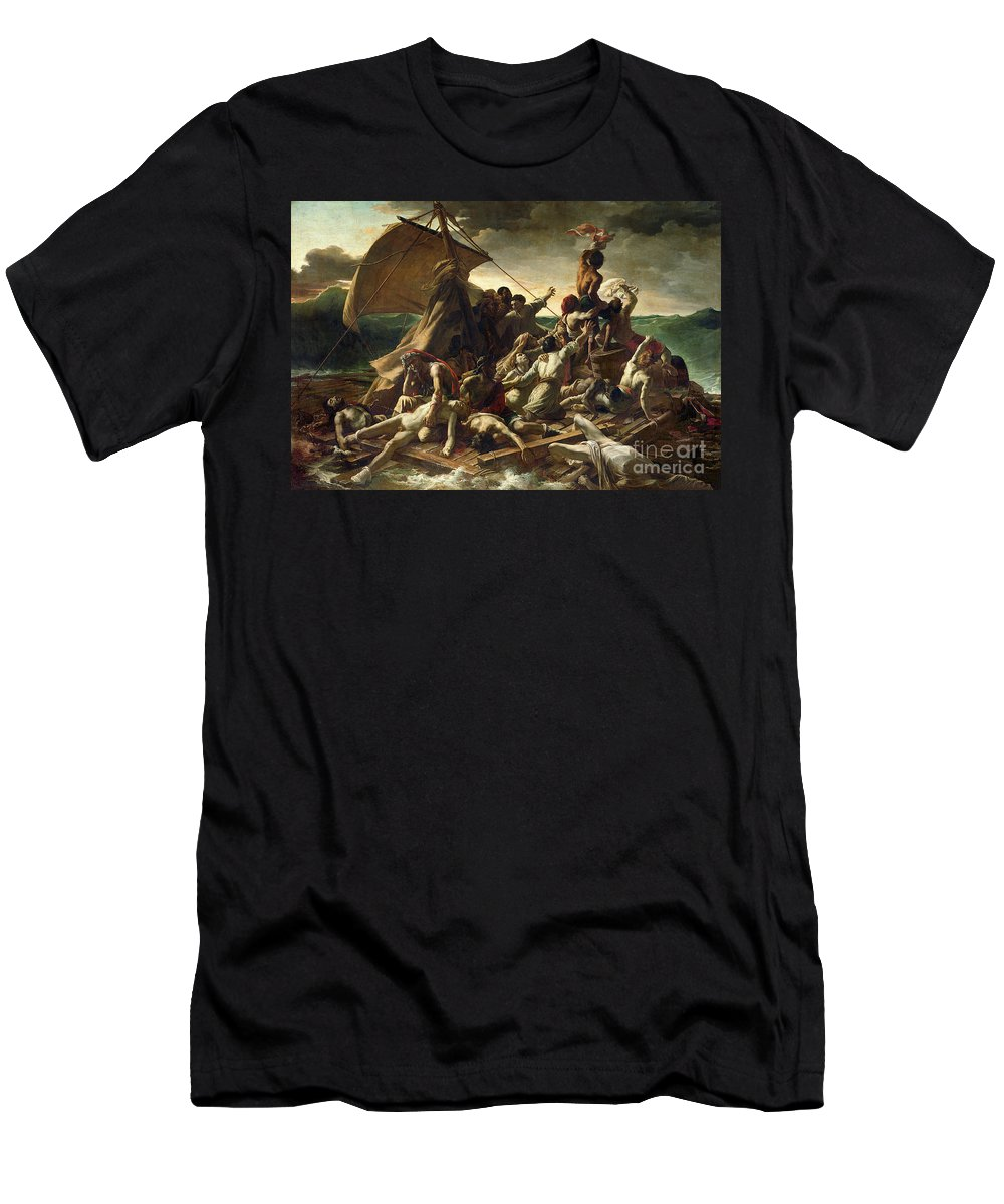 The Raft Of The Medusa Men's T-Shirt (Athletic Fit) featuring the painting The Raft Of The Medusa by Theodore Gericault