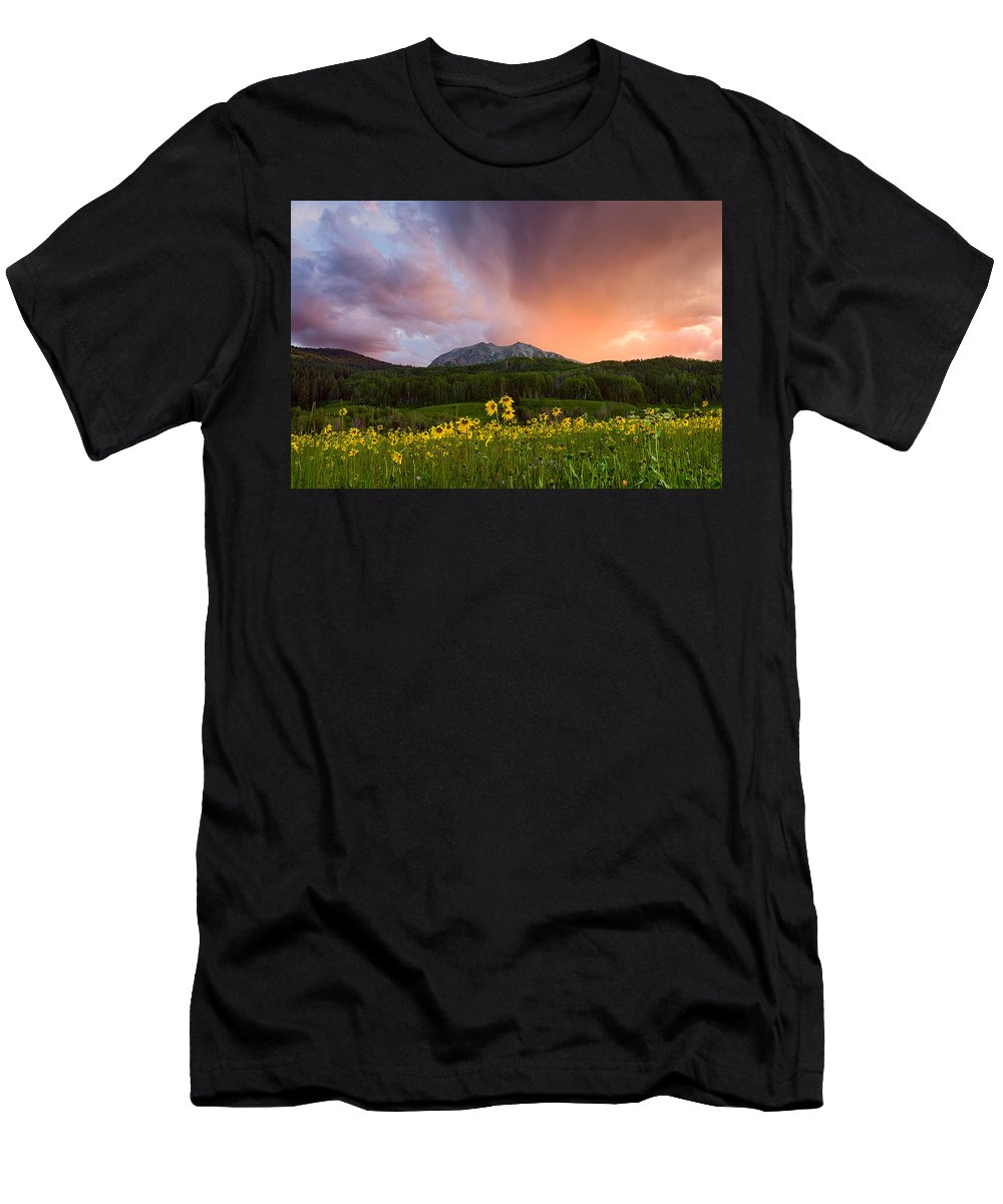 Colorado Men's T-Shirt (Athletic Fit) featuring the photograph The Rain Cometh by Michael Blanchette
