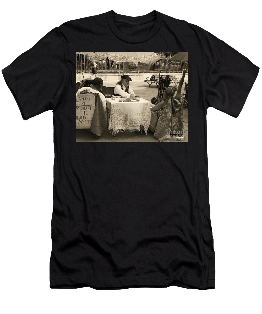 Photography Men's T-Shirt (Athletic Fit) featuring the photograph The Realistic Mystic-sepia by Kathleen K Parker