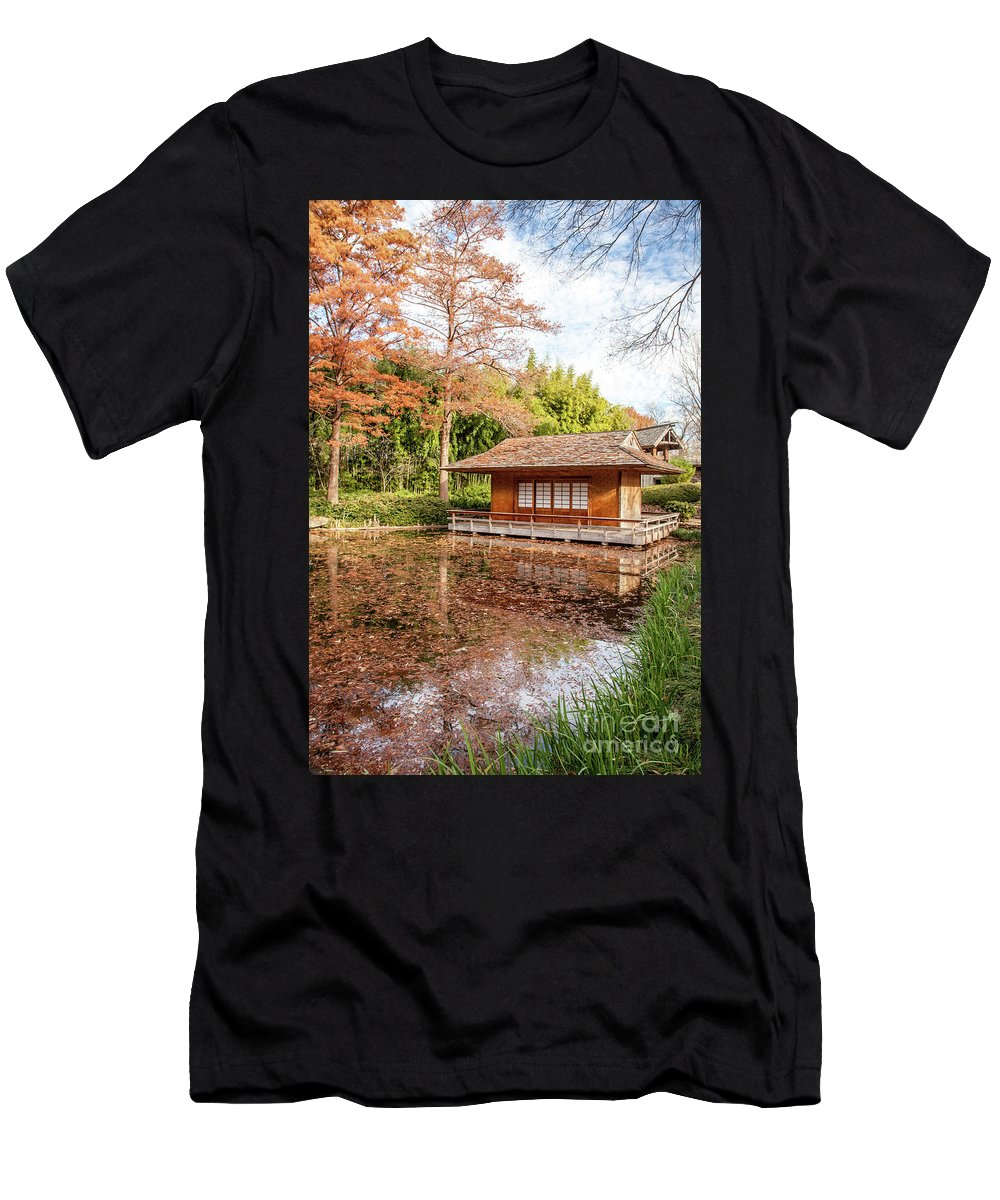 House Men's T-Shirt (Athletic Fit) featuring the photograph The Red House by Iris Greenwell