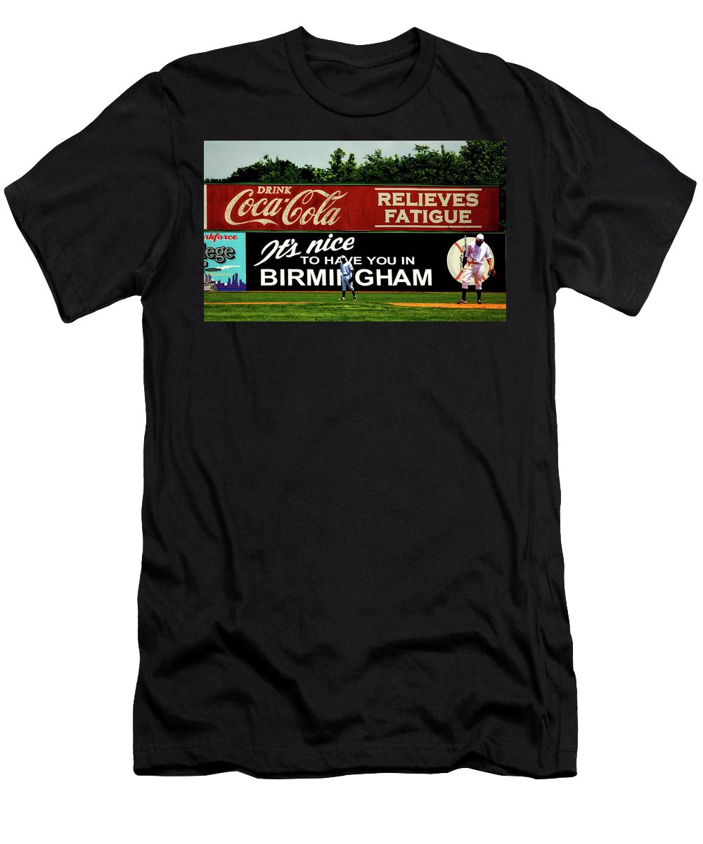 Birmingham Men's T-Shirt (Athletic Fit) featuring the photograph The Rickwood Classic - Birmingham Alabama by Mountain Dreams