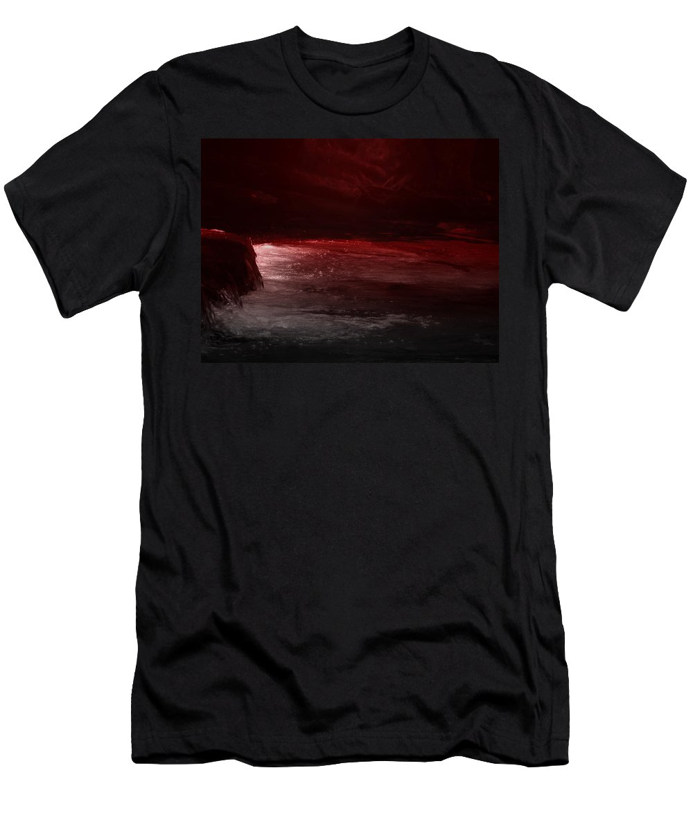 River Men's T-Shirt (Athletic Fit) featuring the photograph The River Runs Red by GJ Blackman
