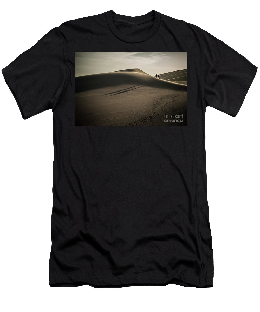 Great Sand Dunes Men's T-Shirt (Athletic Fit) featuring the photograph The Road Less Traveled by David Hegner