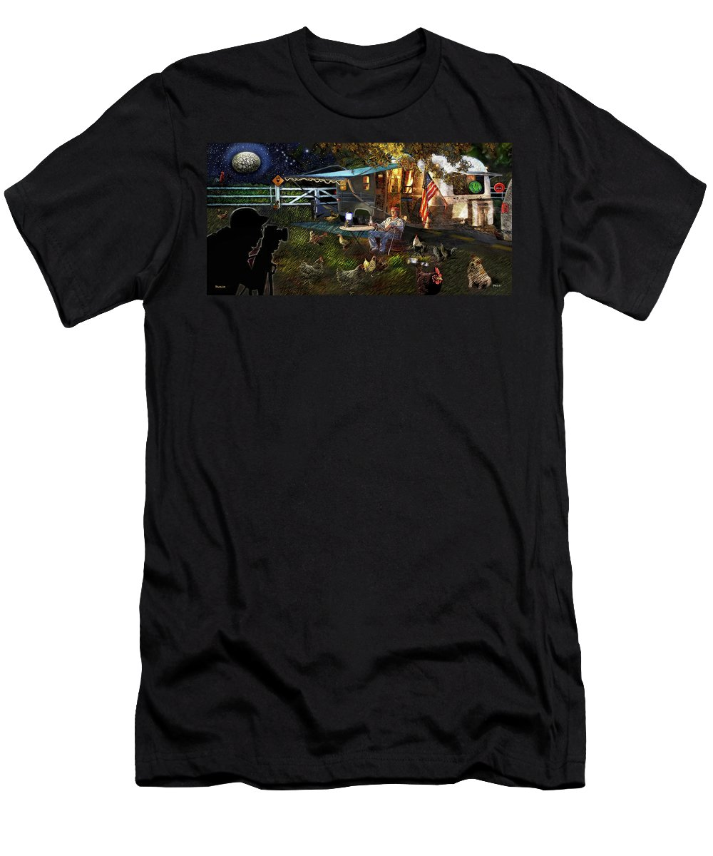 Roger Ruhlin Men's T-Shirt (Athletic Fit) featuring the painting The Roger Painting by Robert Pratt