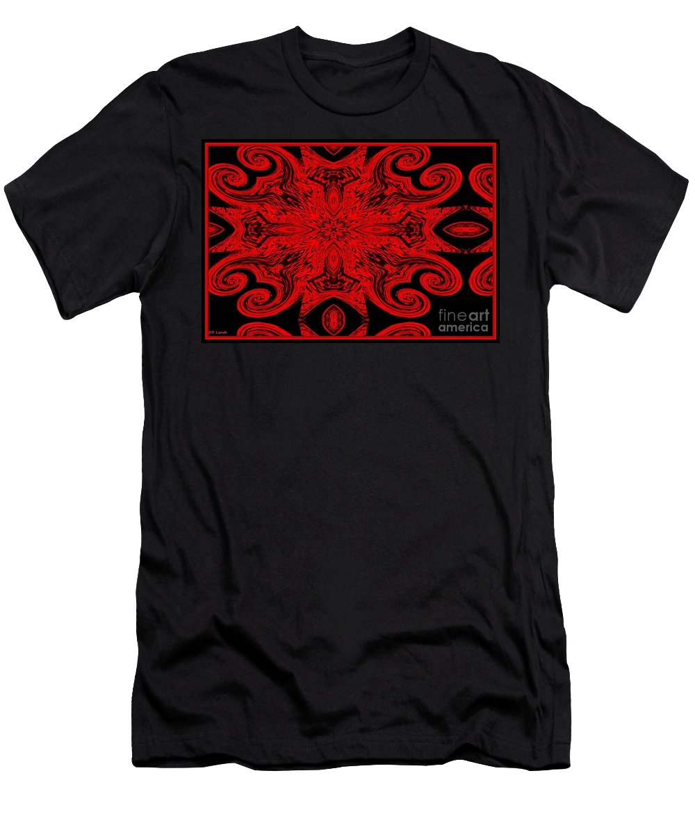 Dark Men's T-Shirt (Athletic Fit) featuring the digital art The Royal Red Crest by Debra Lynch