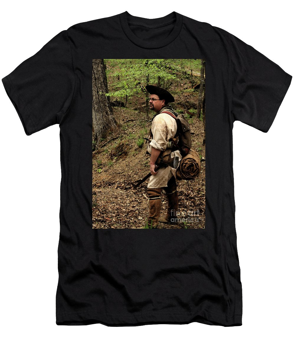 Reenactment Photographs Men's T-Shirt (Athletic Fit) featuring the photograph The Scout3 by Kim Henderson