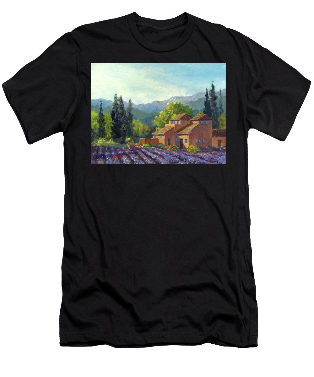 Provence Men's T-Shirt (Athletic Fit) featuring the painting the Season Provence by Ken Pieper
