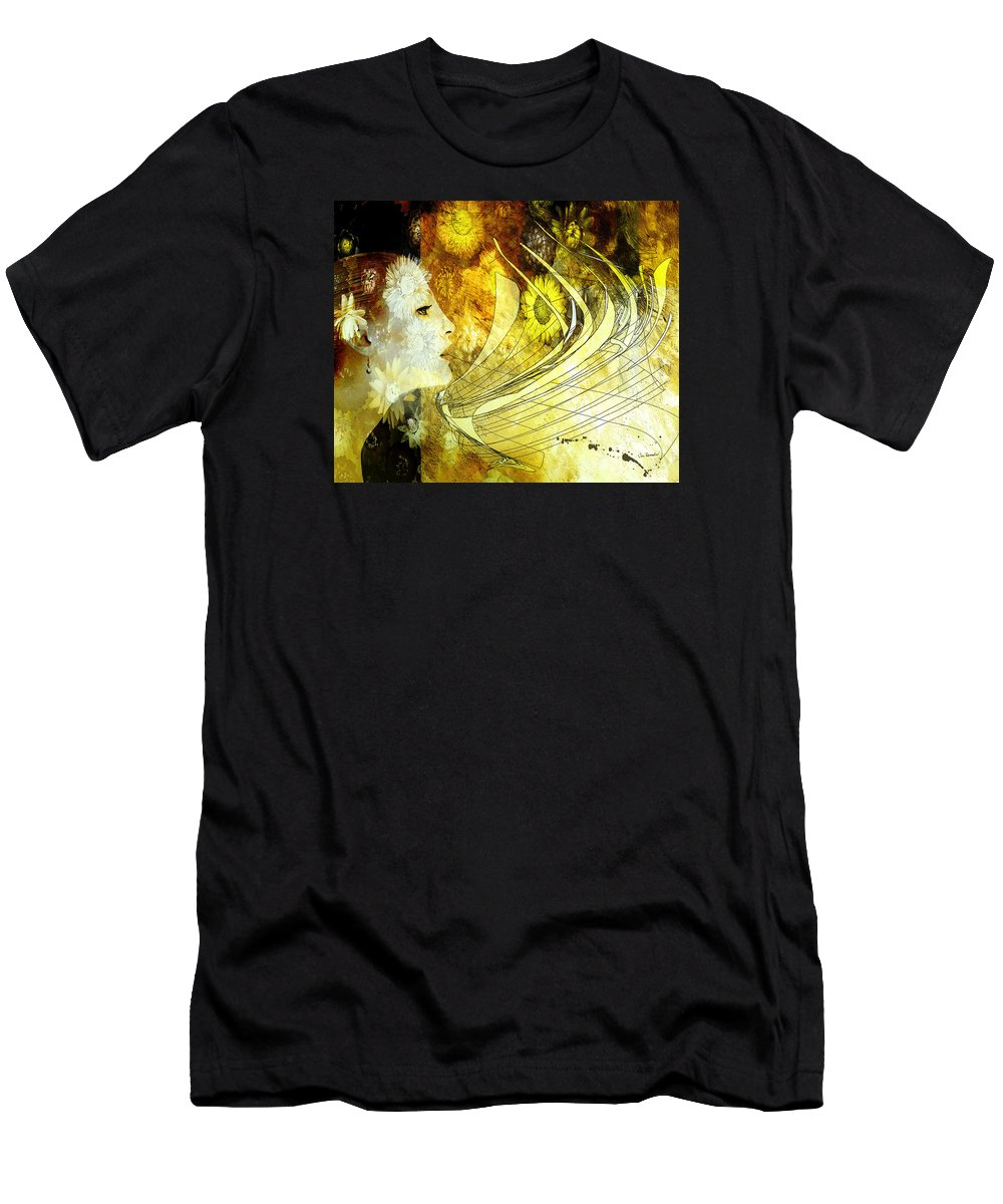 Woman Men's T-Shirt (Athletic Fit) featuring the painting The Second Dream by Van Renselar