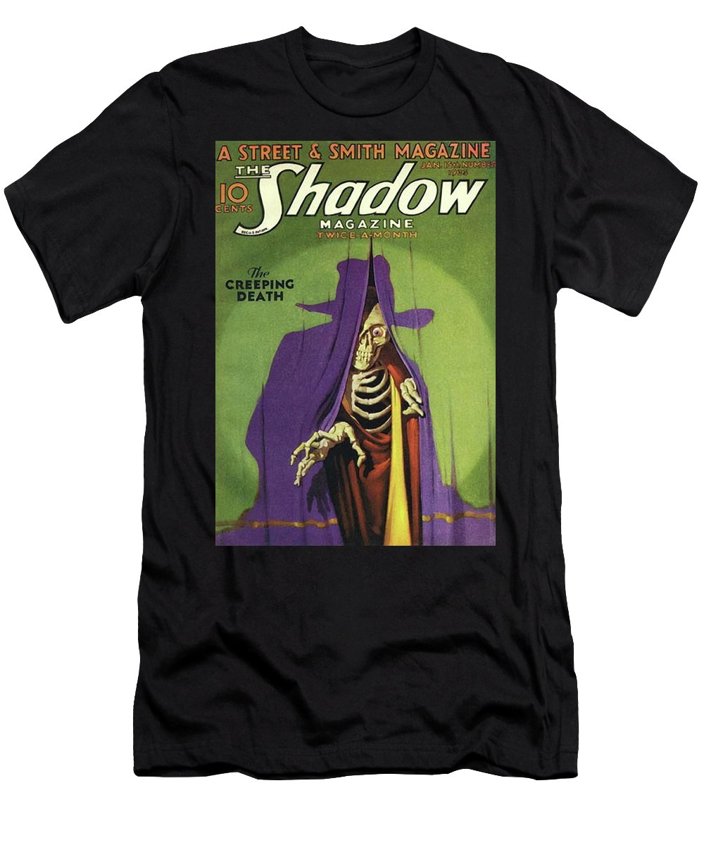 The Shadow T-Shirt featuring the painting The Shadow The Creeping Death by Conde Nast