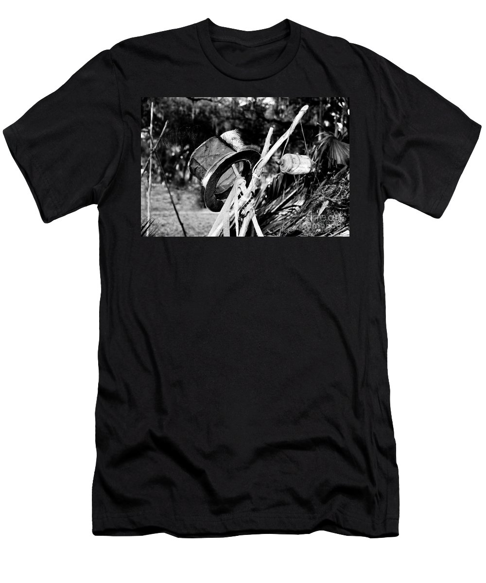 Shaman Men's T-Shirt (Athletic Fit) featuring the photograph The Shaman's Hat by David Lee Thompson