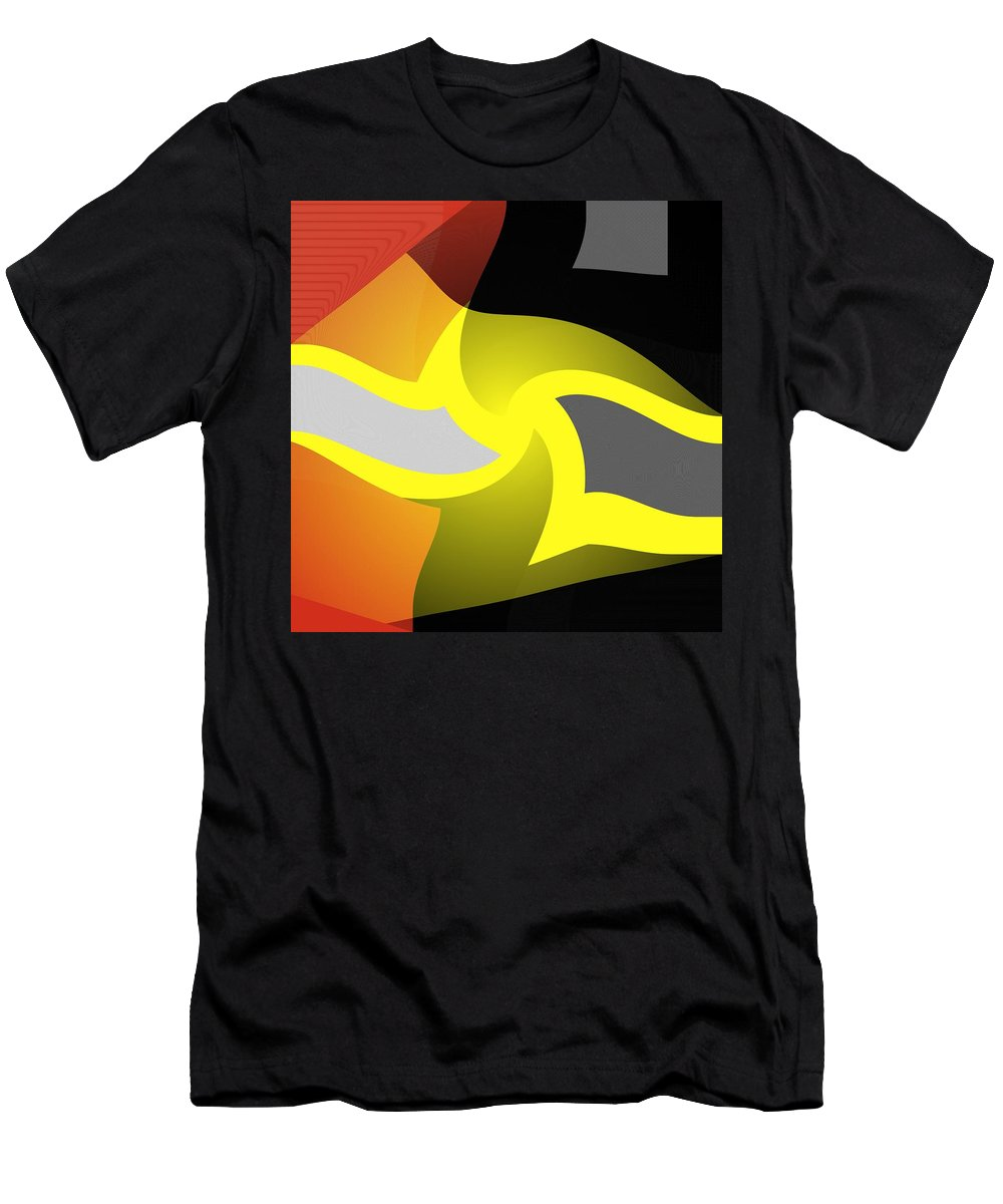 Colorful Abstract Decor Men's T-Shirt (Athletic Fit) featuring the digital art The Shining by Kathleen Sartoris