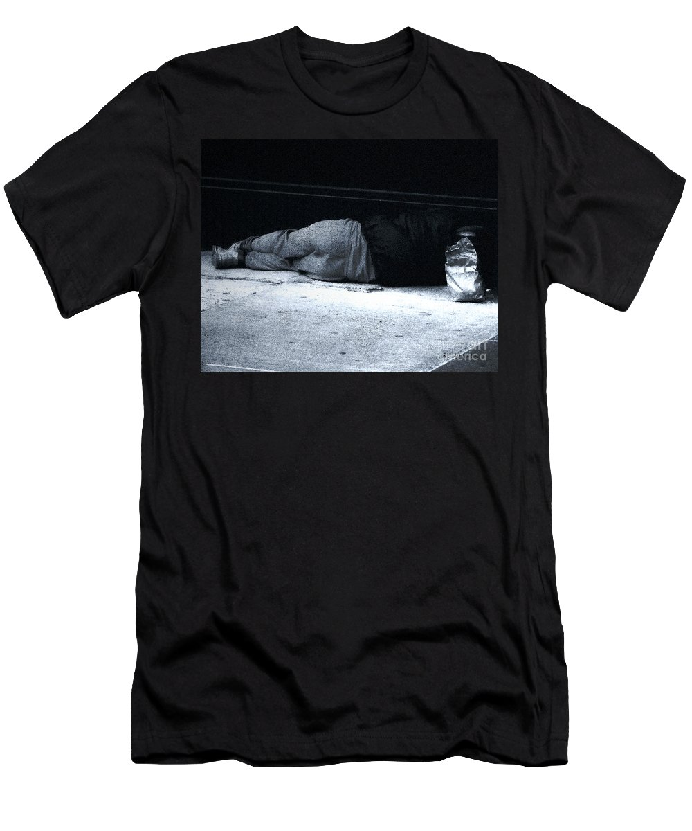 Homeless Men's T-Shirt (Athletic Fit) featuring the photograph The Sidewalks Of New York by RC DeWinter