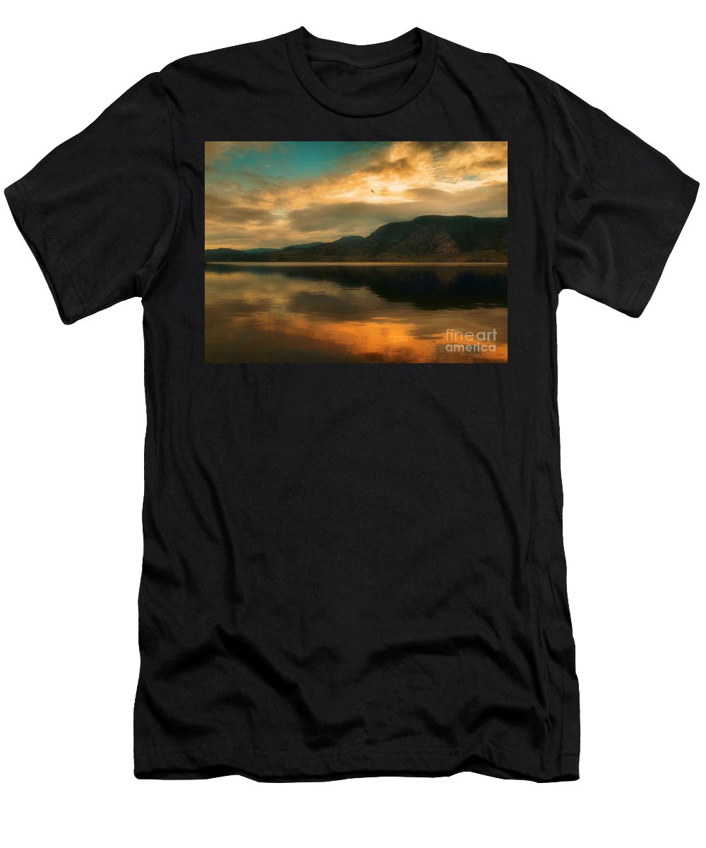 Skaha Men's T-Shirt (Athletic Fit) featuring the photograph The Skaha Sunrise by Tara Turner