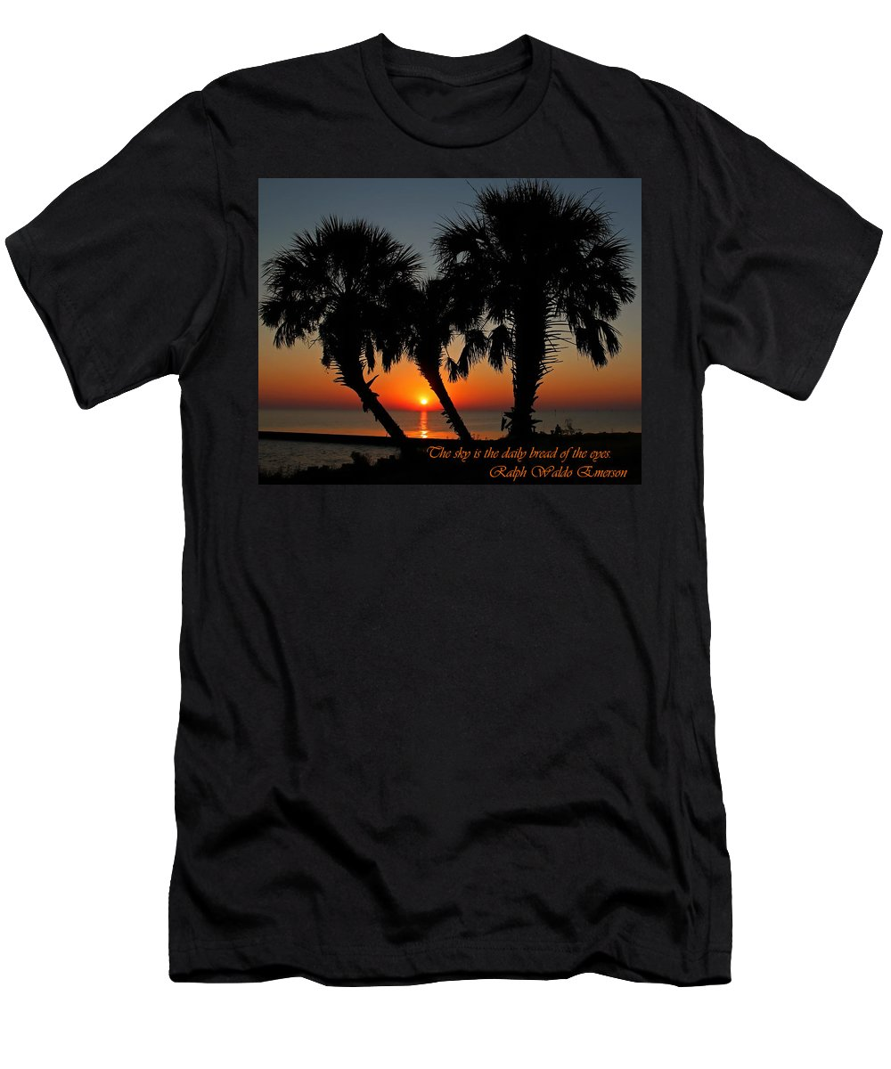 America Men's T-Shirt (Athletic Fit) featuring the photograph The Sky by Judy Vincent