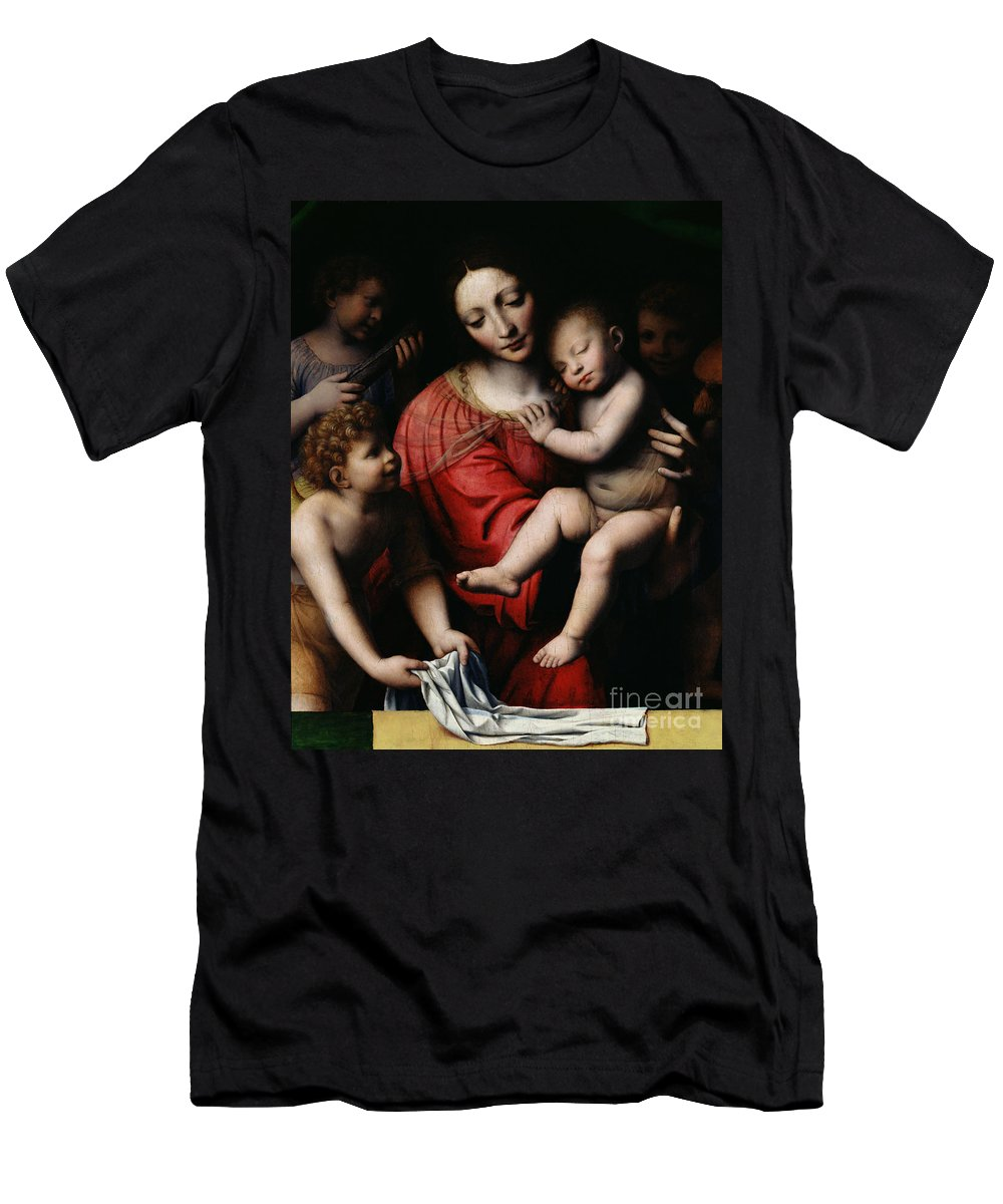 The Sleeping Christ Men's T-Shirt (Athletic Fit) featuring the painting The Sleeping Christ by Bernardino Luini