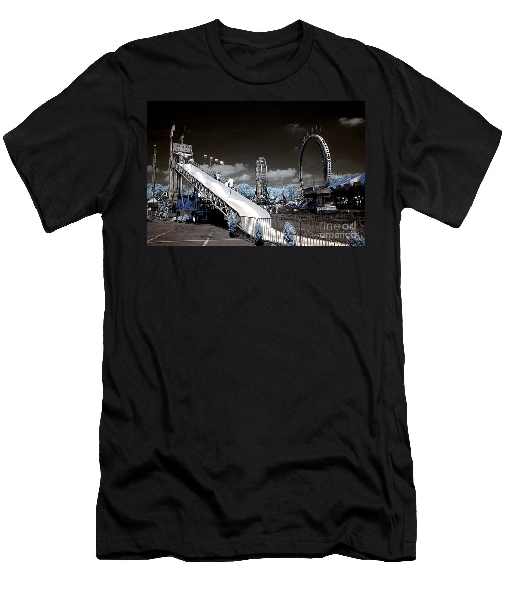 Infrared Men's T-Shirt (Athletic Fit) featuring the photograph The Slide by Paul W Faust - Impressions of Light